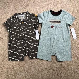 2 baby boy 9-12 month robeez rompers